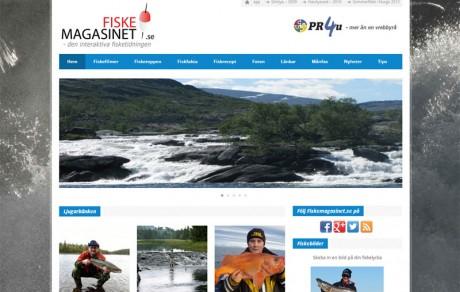 kommunikationsbyrån pr4u har producerat fiskemagasinet.se webbtidning
