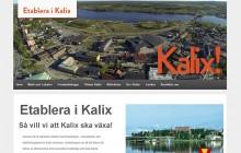 kommunikationsbyrån pr4u har producerat webbplatsen etableraikalix.se