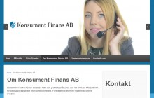 reklambyrån PR 4u har byggt denna webbsida till konsument finans